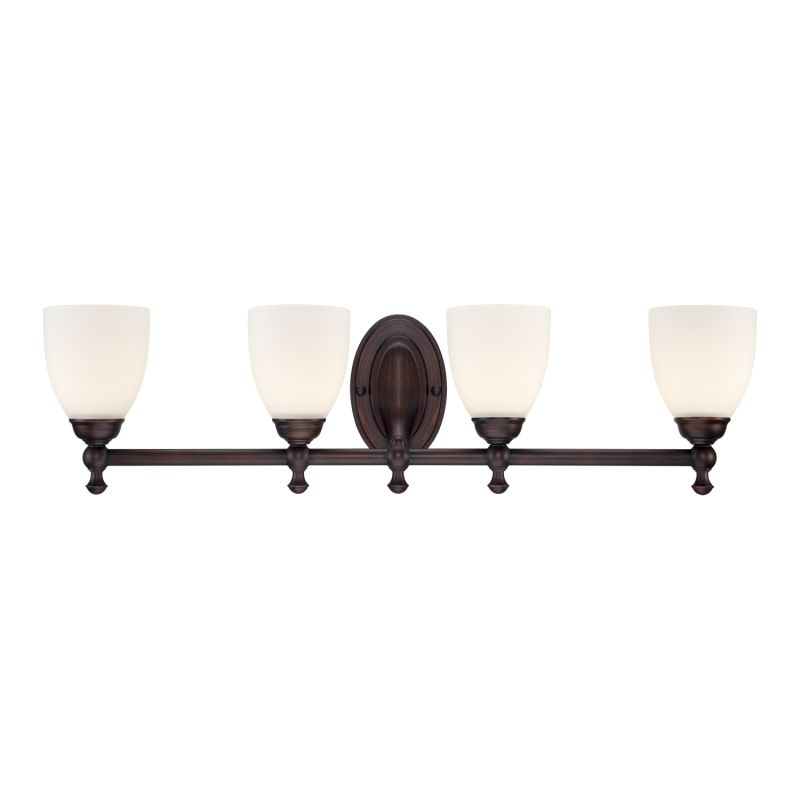 Millennium Lighting 624 4 Light Bathroom Vanity Light Rubbed Bronze