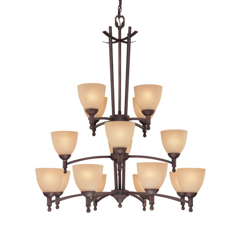Millennium Lighting 6516 Racine 16 Light Three Tier Chandelier Rubbed