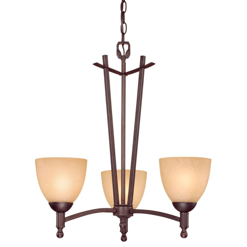 Millennium Lighting 6523 Racine 3 Light Single Tier Chandelier Rubbed