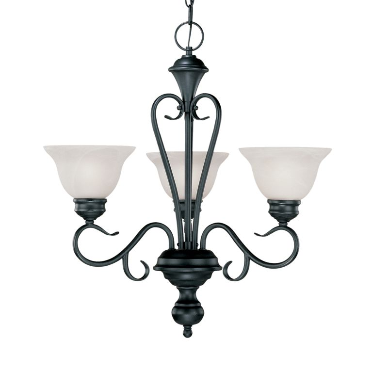 Millennium Lighting 673 Devonshire 3 Light Single Tier Chandelier