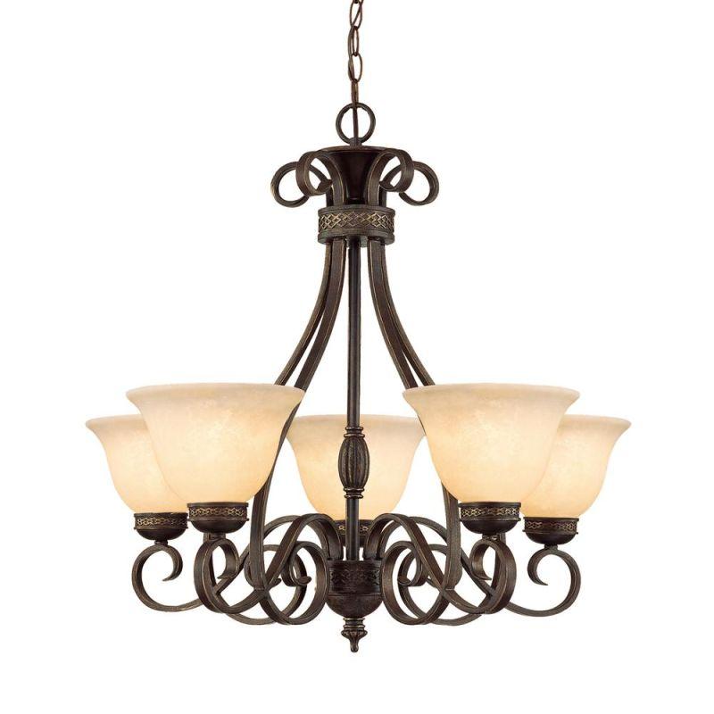 Millennium Lighting 7165 Alma 5 Light Single Tier Chandelier Bronze / Sale $279.90 ITEM: bci2274711 ID#:7165-BZ/G UPC: 842639009937 :