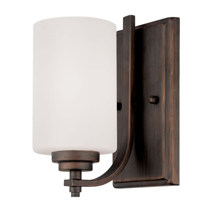 Millennium Lighting 7261 Bristo 1 Light Wall Sconce Rubbed Bronze
