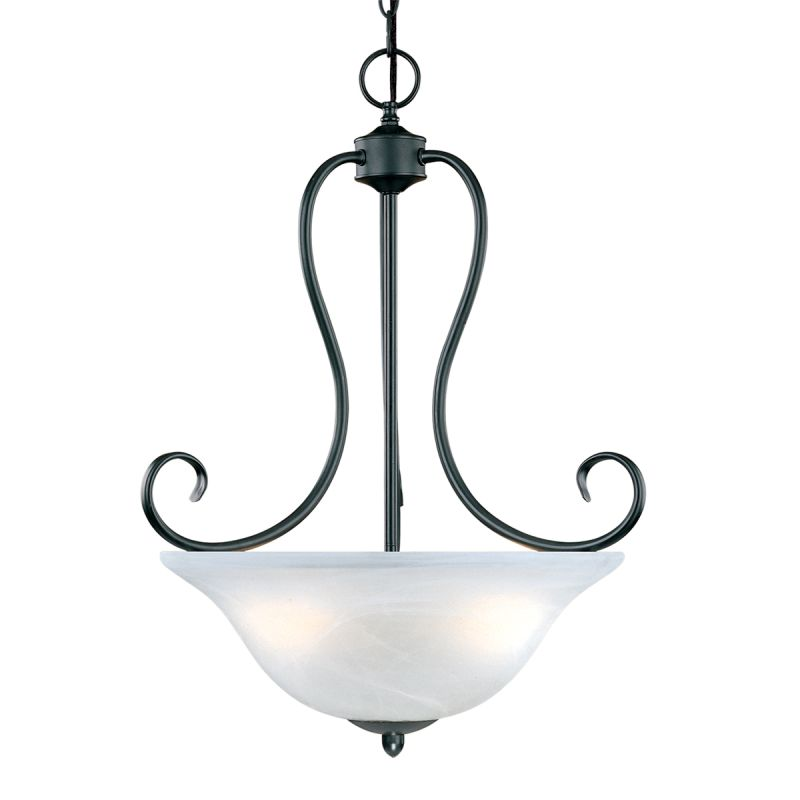 Millennium Lighting 73 Main Street 3 Light Pendant Black Indoor