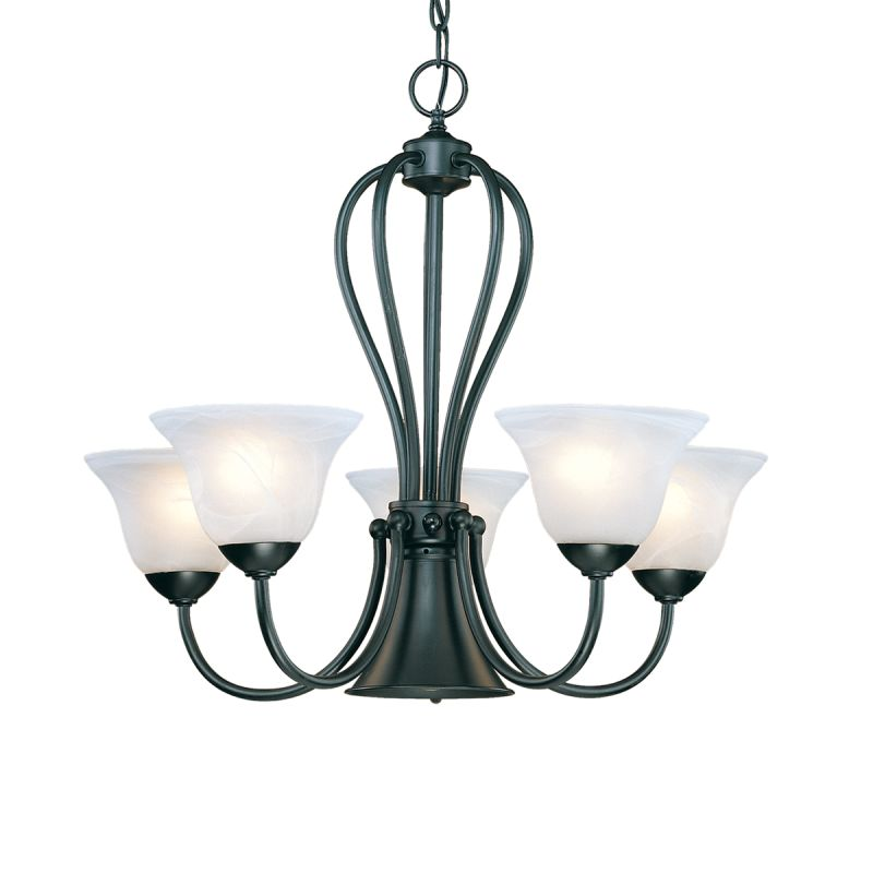 Millennium Lighting 76 Main Street 6 Light Single Tier Chandelier