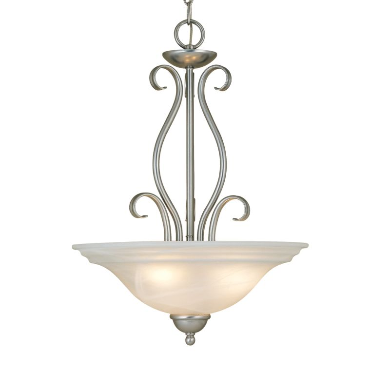 Millennium Lighting 983 Manchester 3 Light Pendant Satin Nickel Indoor