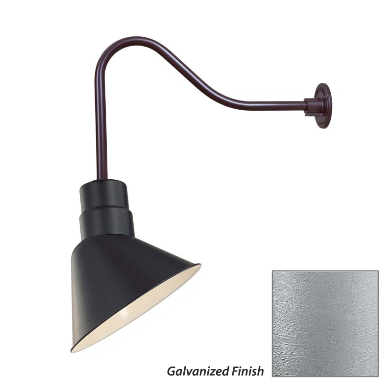 Millennium Lighting RAS10-RGN23 R Series 1 Light Outdoor Wall Sconce