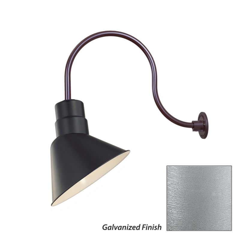 Millennium Lighting RAS10-RGN24 R Series 1 Light Outdoor Wall Sconce