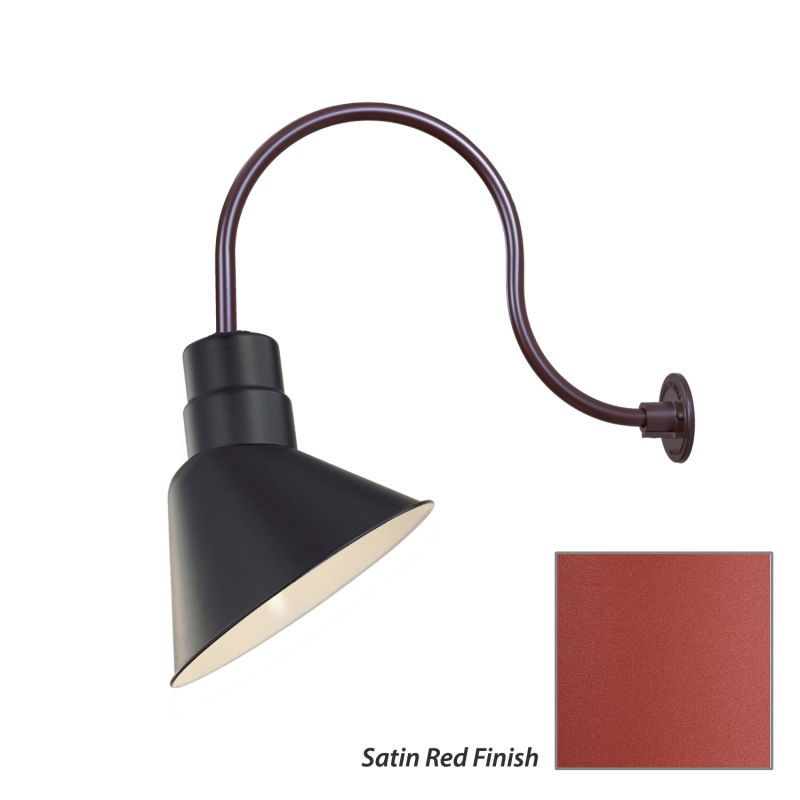 Millennium Lighting RAS10-RGN24 R Series 1 Light Outdoor Wall Sconce Sale $119.80 ITEM: bci2282022 ID#:RAS10-RGN24 Satin Red UPC: 842639010131 :