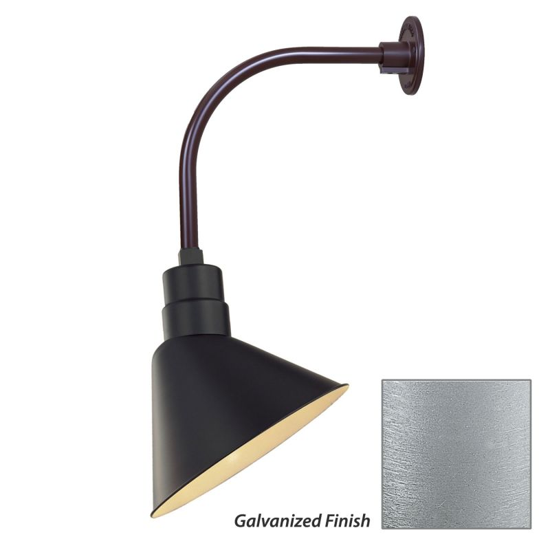 Millennium Lighting RAS12-RGN12 R Series 1 Light Outdoor Wall Sconce