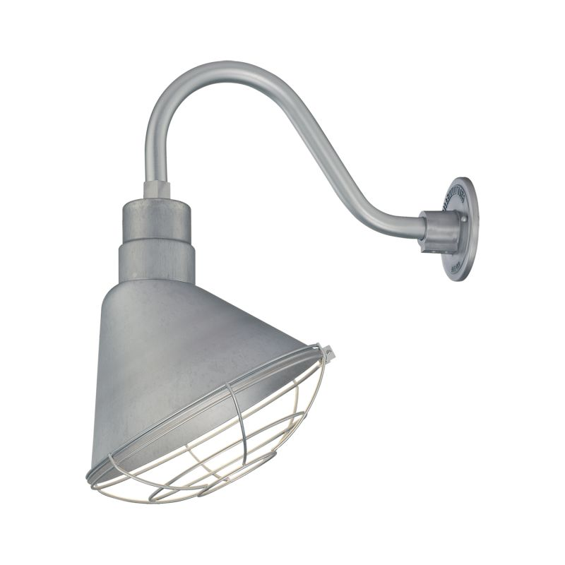 light outdoor wall sconce with 12 angle shade and 14 5 gooseneck
