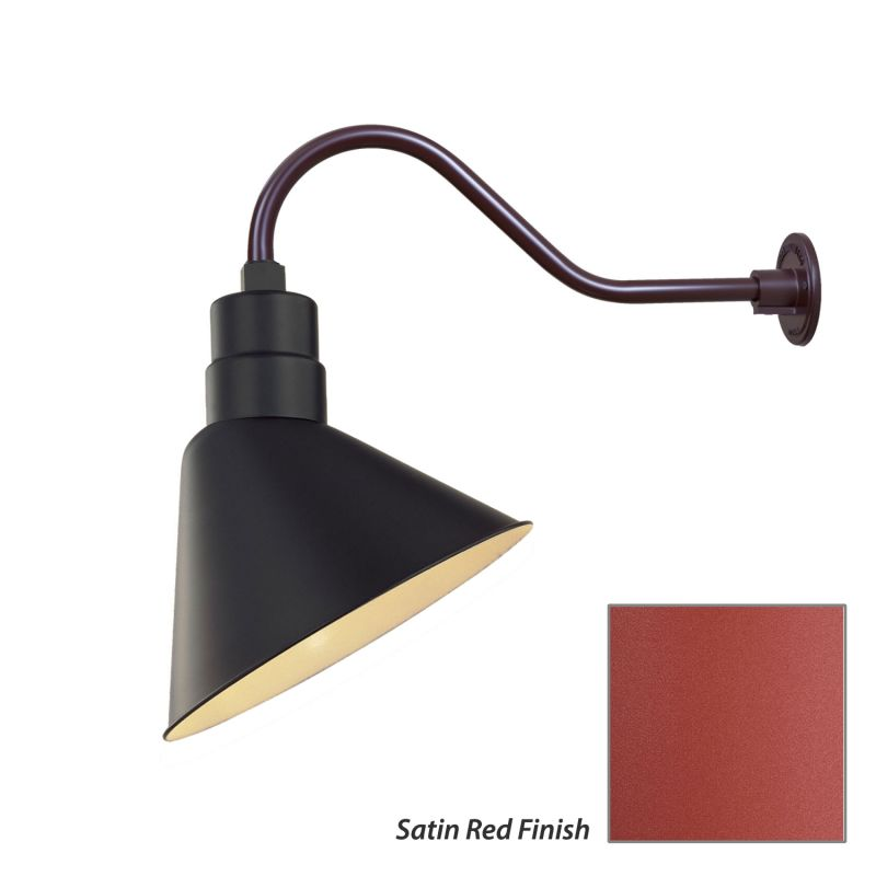 Millennium Lighting RAS12-RGN22 R Series 1 Light Outdoor Wall Sconce Sale $115.80 ITEM: bci2282046 ID#:RAS12-RGN22 Satin Red UPC: 842639010148 :