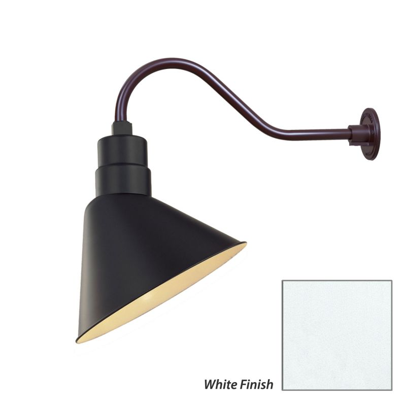 Millennium Lighting White R Series 1 Light Outdoor Wall