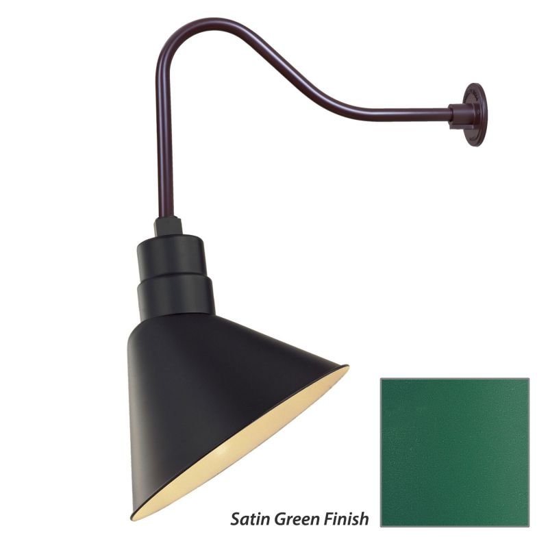 Millennium Lighting RAS12-RGN23 R Series 1 Light Outdoor Wall Sconce Sale $121.80 ITEM: bci2282051 ID#:RAS12-RGN23 Satin Green UPC: 842639008909 :