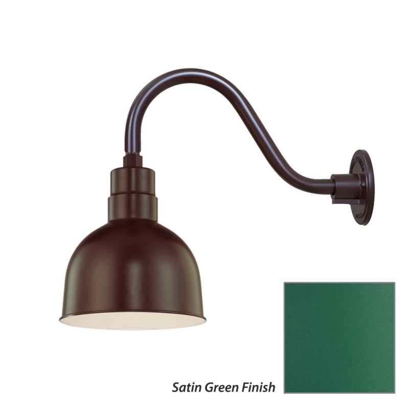 Millennium Lighting RDBS10-RGN15 R Series 1 Light Outdoor Wall Sconce Sale $99.80 ITEM: bci2282081 ID#:RDBS10-RGN15 Satin Green UPC: 842639008954 :