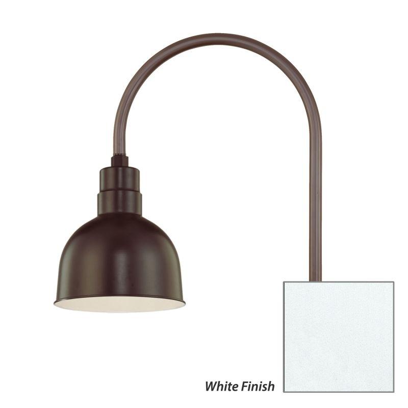 Millennium Lighting RDBS10-RPAS R Series 1 Light Post Light with Dark