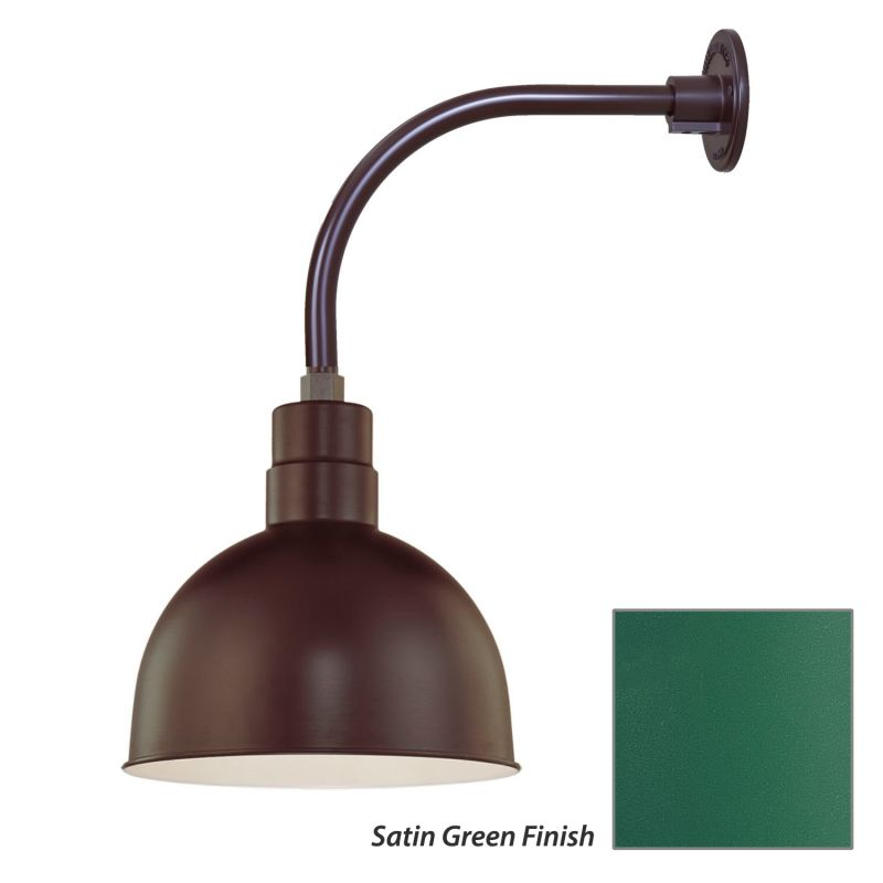 Millennium Lighting RDBS12-RGN12 R Series 1 Light Outdoor Wall Sconce Sale $105.80 ITEM: bci2282129 ID#:RDBS12-RGN12 Satin Green UPC: 842639009005 :