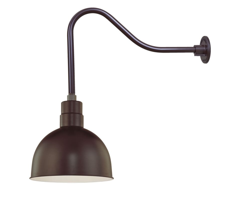 Millennium Lighting RDBS12-RGN23 R Series 1 Light Outdoor Wall Sconce Sale $121.80 ITEM: bci2282144 ID#:RDBS12-RGN23 Architectural Bronze UPC: 842639008985 :