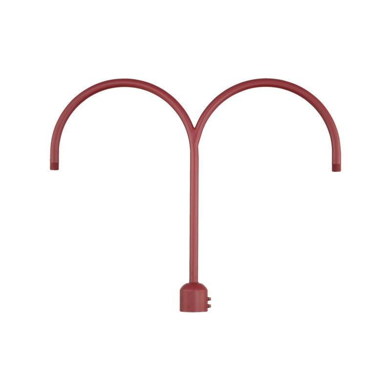 Millennium Lighting RPAD R Series Two Light Post Adapter Satin Red