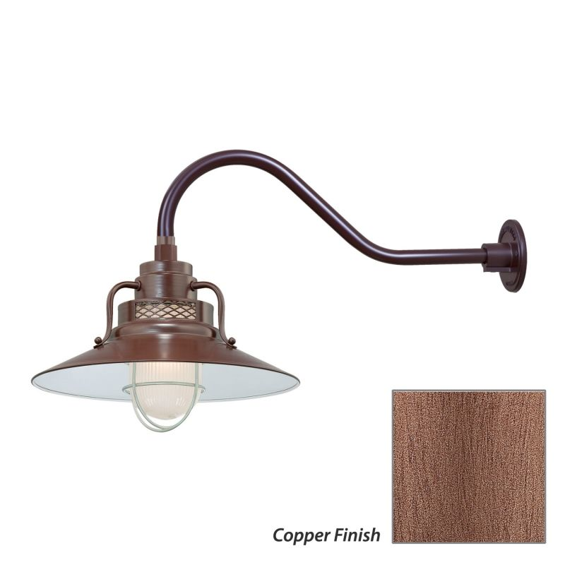 Millennium Lighting RRRS14-RGN22 R Series 1 Light Outdoor Wall Sconce