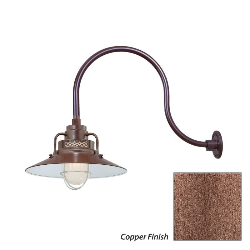 Millennium Lighting RRRS14-RGN24 R Series 1 Light Outdoor Wall Sconce