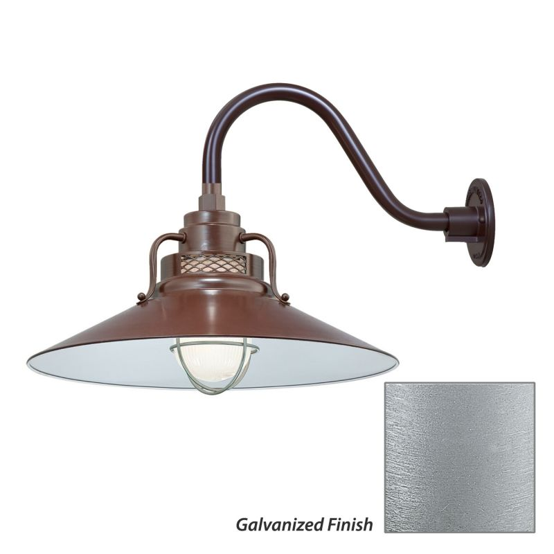 Millennium Lighting RRRS18-RGN15 R Series 1 Light Outdoor Wall Sconce Sale $179.80 ITEM: bci2282294 ID#:RRRS18-RGN15 Galvanized UPC: 842639010797 :