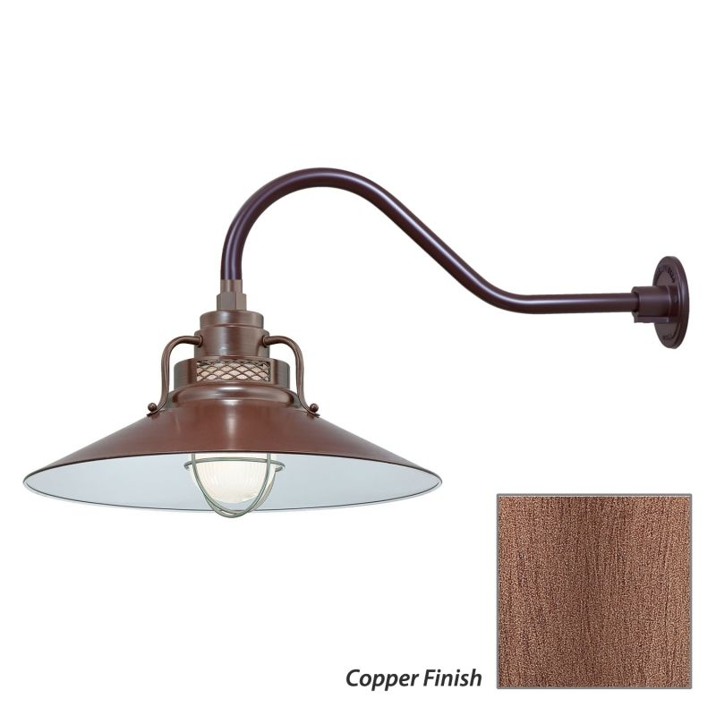 Millennium Lighting RRRS18-RGN22 R Series 1 Light Outdoor Wall Sconce