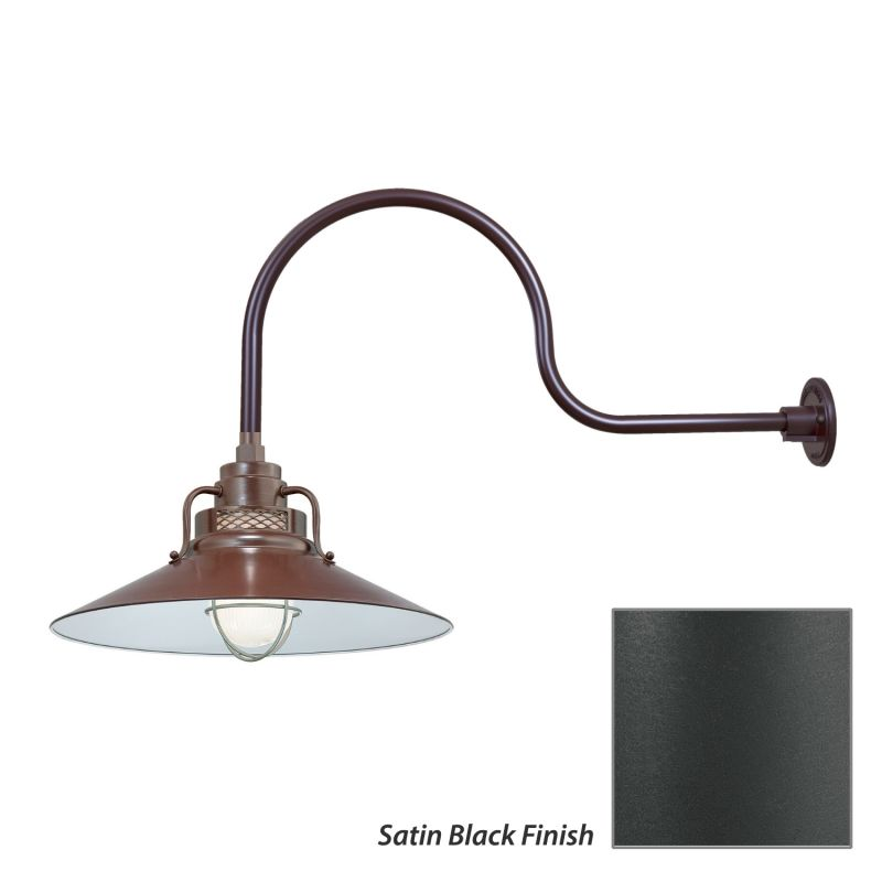 Millennium Lighting RRRS18-RGN30 R Series 1 Light Outdoor Wall Sconce Sale $203.80 ITEM: bci2282311 ID#:RRRS18-RGN30 Satin Black UPC: 842639010803 :