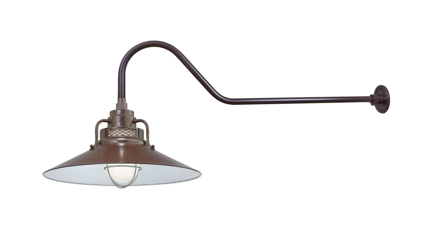Millennium Lighting RRRS18-RGN41 R Series 1 Light Outdoor Wall Sconce Sale $205.80 ITEM: bci2282312 ID#:RRRS18-RGN41 Architectural Bronze UPC: 842639010025 :
