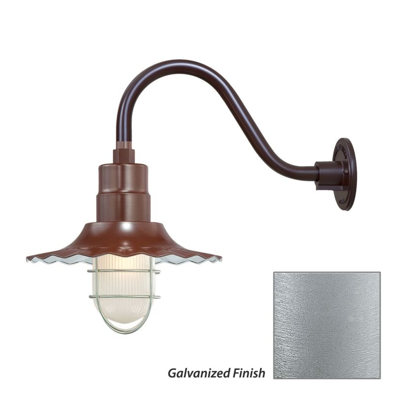 Millennium Lighting RRWS12-RGN15 R Series 1 Light Outdoor Wall Sconce
