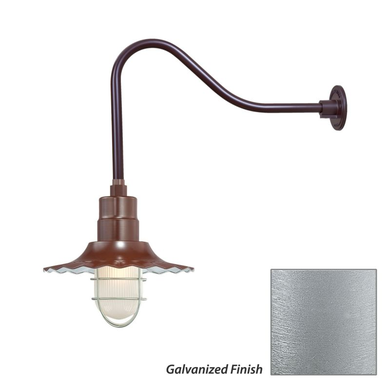 Millennium Lighting RRWS12-RGN23 R Series 1 Light Outdoor Wall Sconce Sale $141.80 ITEM: bci2282347 ID#:RRWS12-RGN23 Galvanized UPC: 842639011008 :