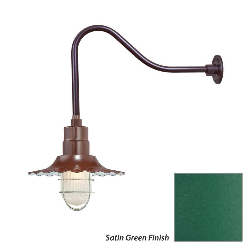 Millennium Lighting RRWS12-RGN23 R Series 1 Light Outdoor Wall Sconce Sale $141.80 ITEM: bci2282349 ID#:RRWS12-RGN23 Satin Green UPC: 842639011022 :