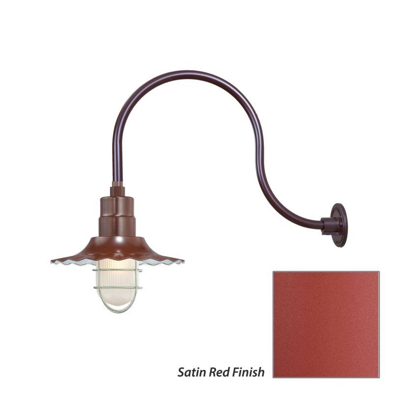 Millennium Lighting Satin Red R Series 1 Light Outdoor
