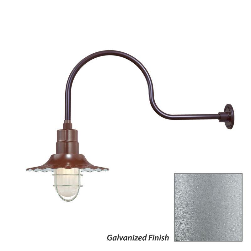 Millennium Lighting RRWS12-RGN30 R Series 1 Light Outdoor Wall Sconce Sale $149.80 ITEM: bci2282361 ID#:RRWS12-RGN30 Galvanized UPC: 842639011008 :