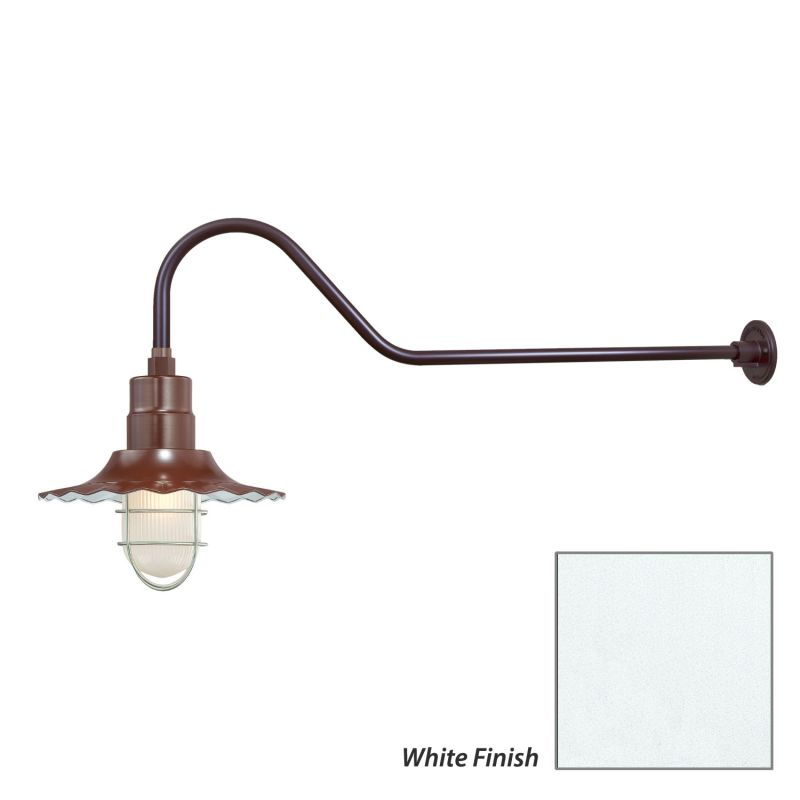 Millennium Lighting RRWS12-RGN41 R Series 1 Light Outdoor Wall Sconce Sale $151.80 ITEM: bci2282372 ID#:RRWS12-RGN41 White UPC: 842639011046 :
