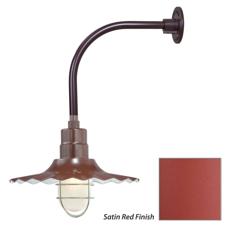 Millennium Lighting RRWS15-RGN12 R Series 1 Light Outdoor Wall Sconce