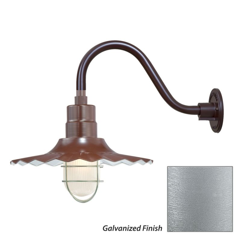 Millennium Lighting RRWS15-RGN15 R Series 1 Light Outdoor Wall Sconce