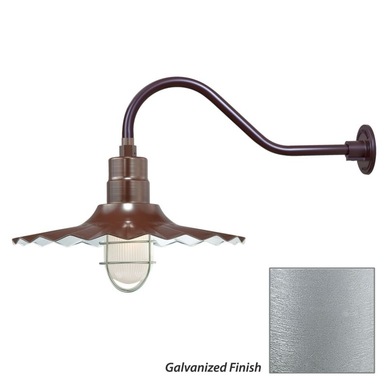 Millennium Lighting RRWS18-RGN22 R Series 1 Light Outdoor Wall Sconce
