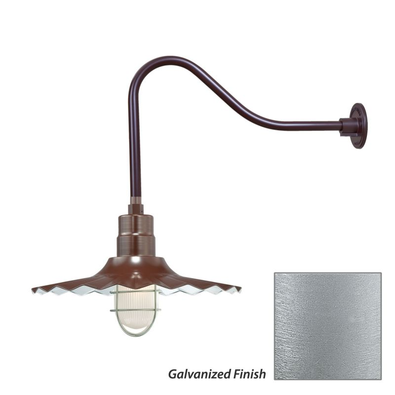 Millennium Lighting RRWS18-RGN23 R Series 1 Light Outdoor Wall Sconce Sale $155.80 ITEM: bci2282473 ID#:RRWS18-RGN23 Galvanized UPC: 842639011121 :
