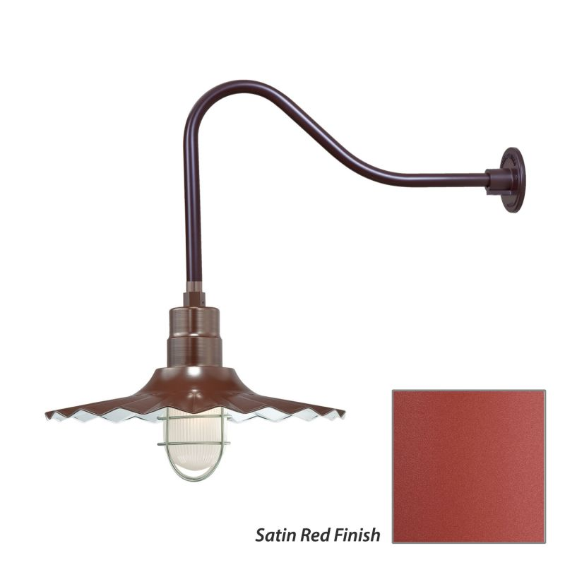 Millennium Lighting RRWS18-RGN23 R Series 1 Light Outdoor Wall Sconce