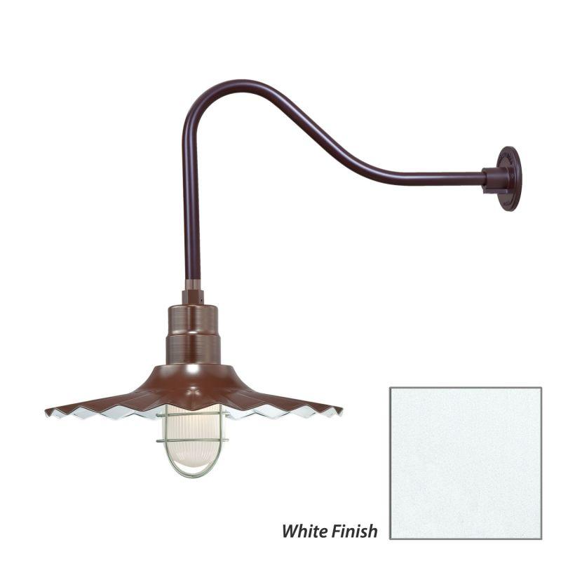 Millennium Lighting RRWS18-RGN23 R Series 1 Light Outdoor Wall Sconce Sale $155.80 ITEM: bci2282477 ID#:RRWS18-RGN23 White UPC: 842639011169 :