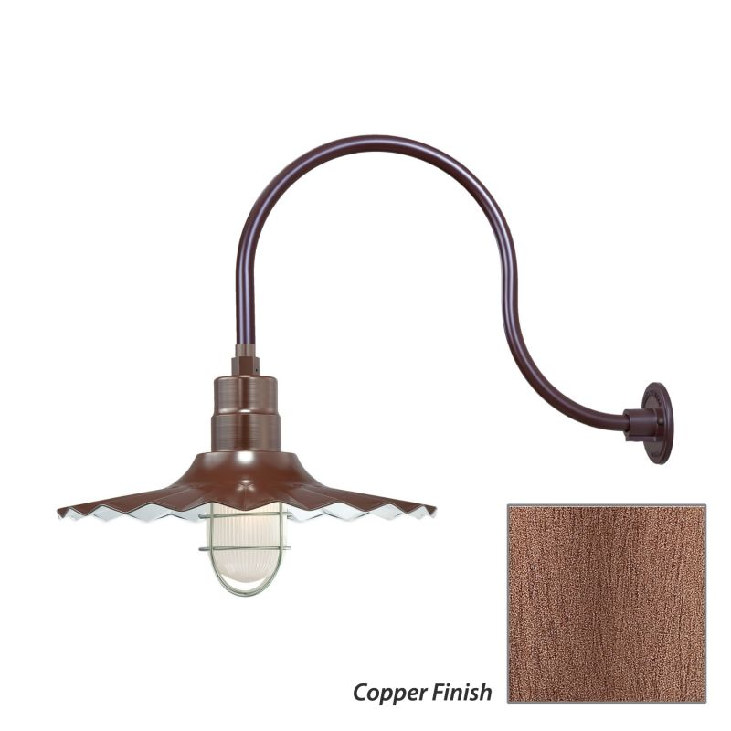 Millennium Lighting RRWS18-RGN24 R Series 1 Light Outdoor Wall Sconce Sale $173.80 ITEM: bci2282479 ID#:RRWS18-RGN24 Copper UPC: 842639010704 :