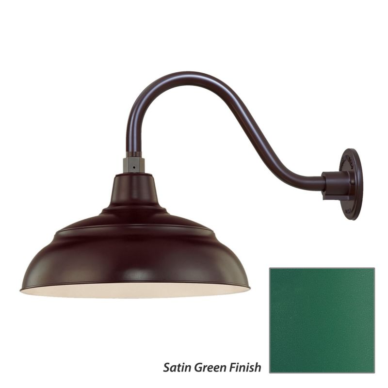 Millennium Lighting RWHS14-RGN15 R Series 1 Light Outdoor Wall Sconce