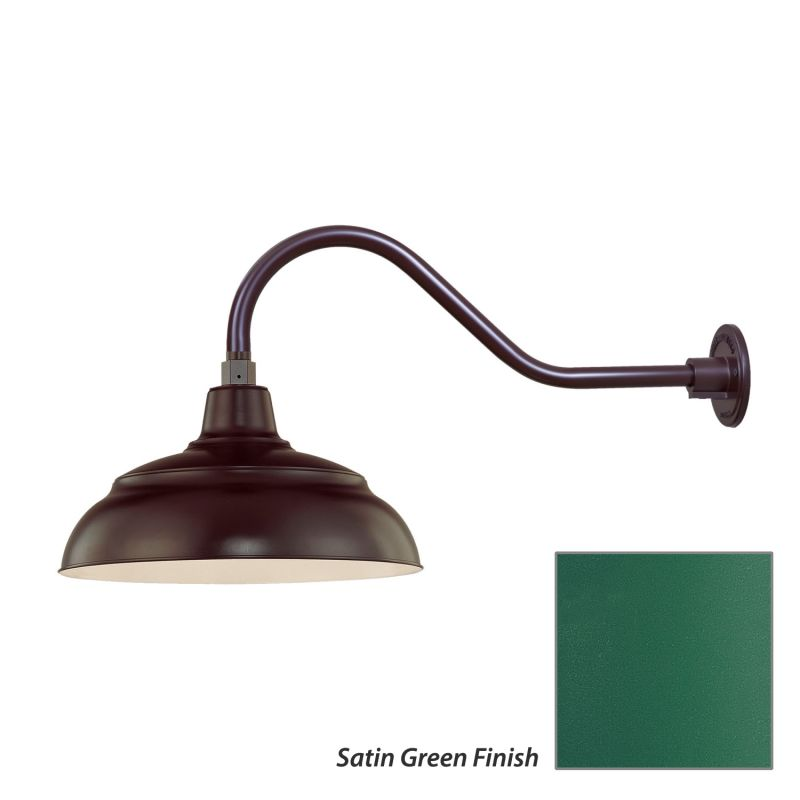 Millennium Lighting RWHS14-RGN22 R Series 1 Light Outdoor Wall Sconce Sale $115.80 ITEM: bci2282528 ID#:RWHS14-RGN22 Satin Green UPC: 842639008558 :