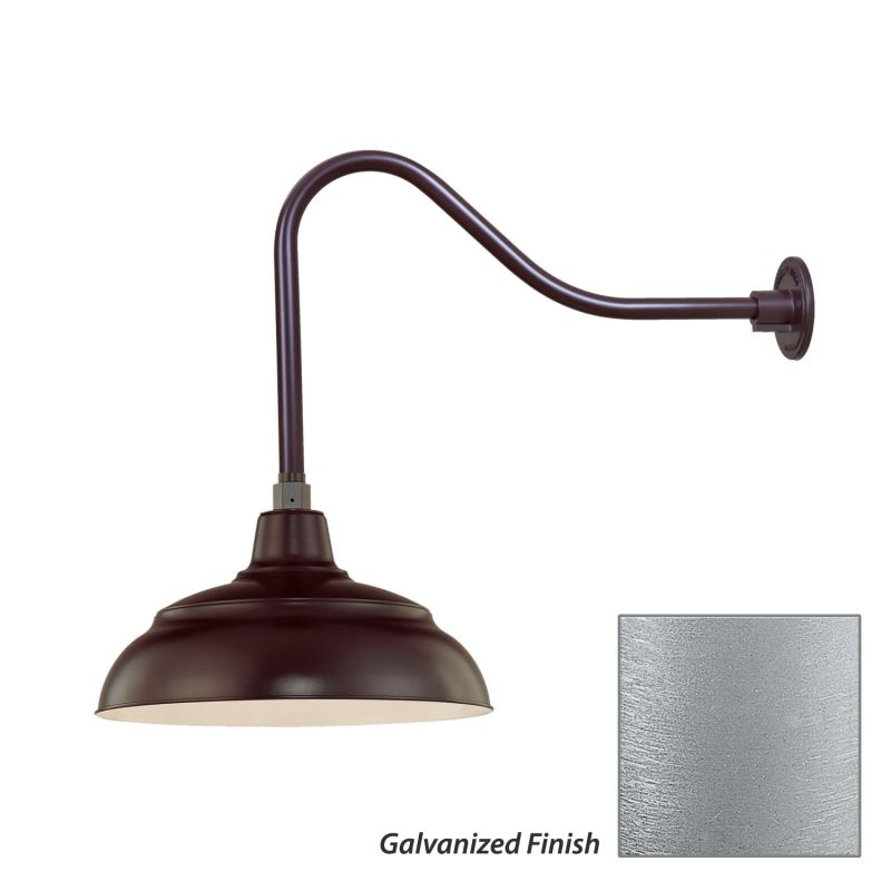 Millennium Lighting RWHS14-RGN23 R Series 1 Light Outdoor Wall Sconce
