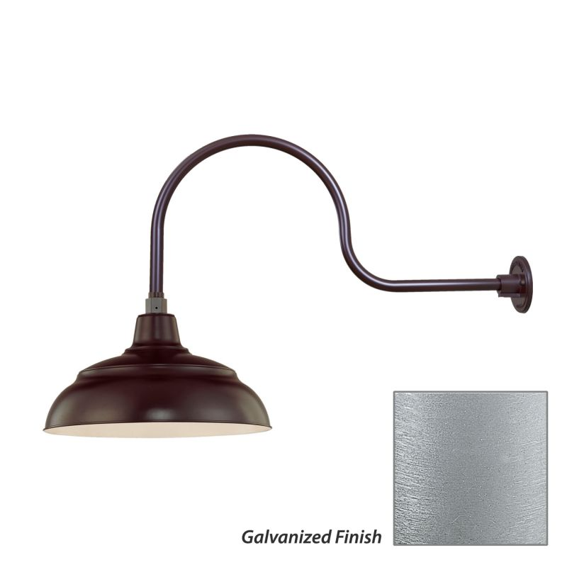 Millennium Lighting RWHS14-RGN30 R Series 1 Light Outdoor Wall Sconce