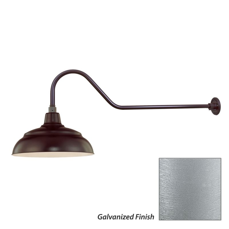 Millennium Lighting Galvanized R Series 1 Light Outdoor