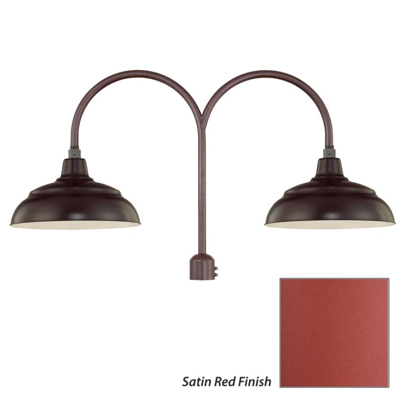 Millennium Lighting RWHS14-RPAD R Series 2 Light Post Light with Dark