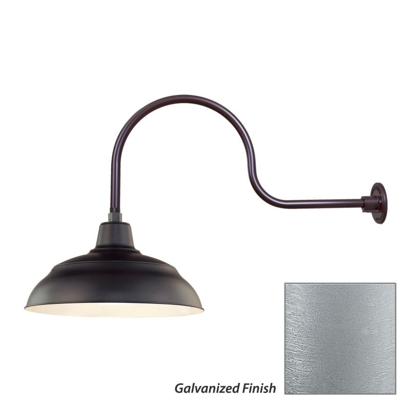 Millennium Lighting RWHS17-RGN30 R Series 1 Light Outdoor Wall Sconce