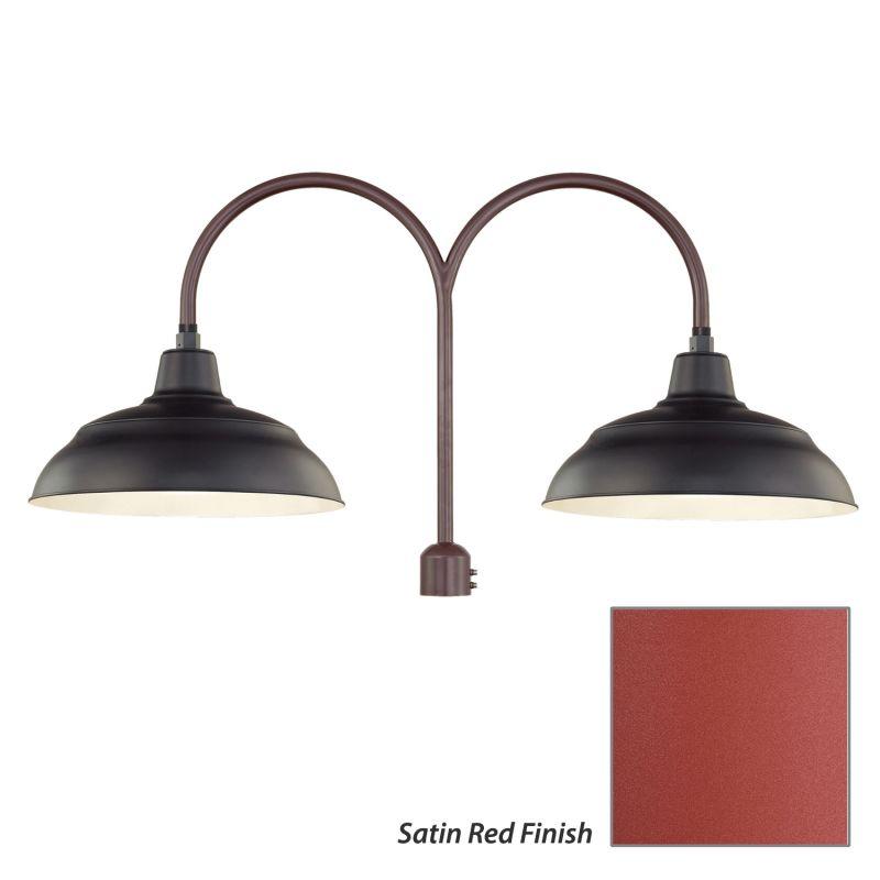 Millennium Lighting RWHS17-RPAD R Series 2 Light Post Light with Dark