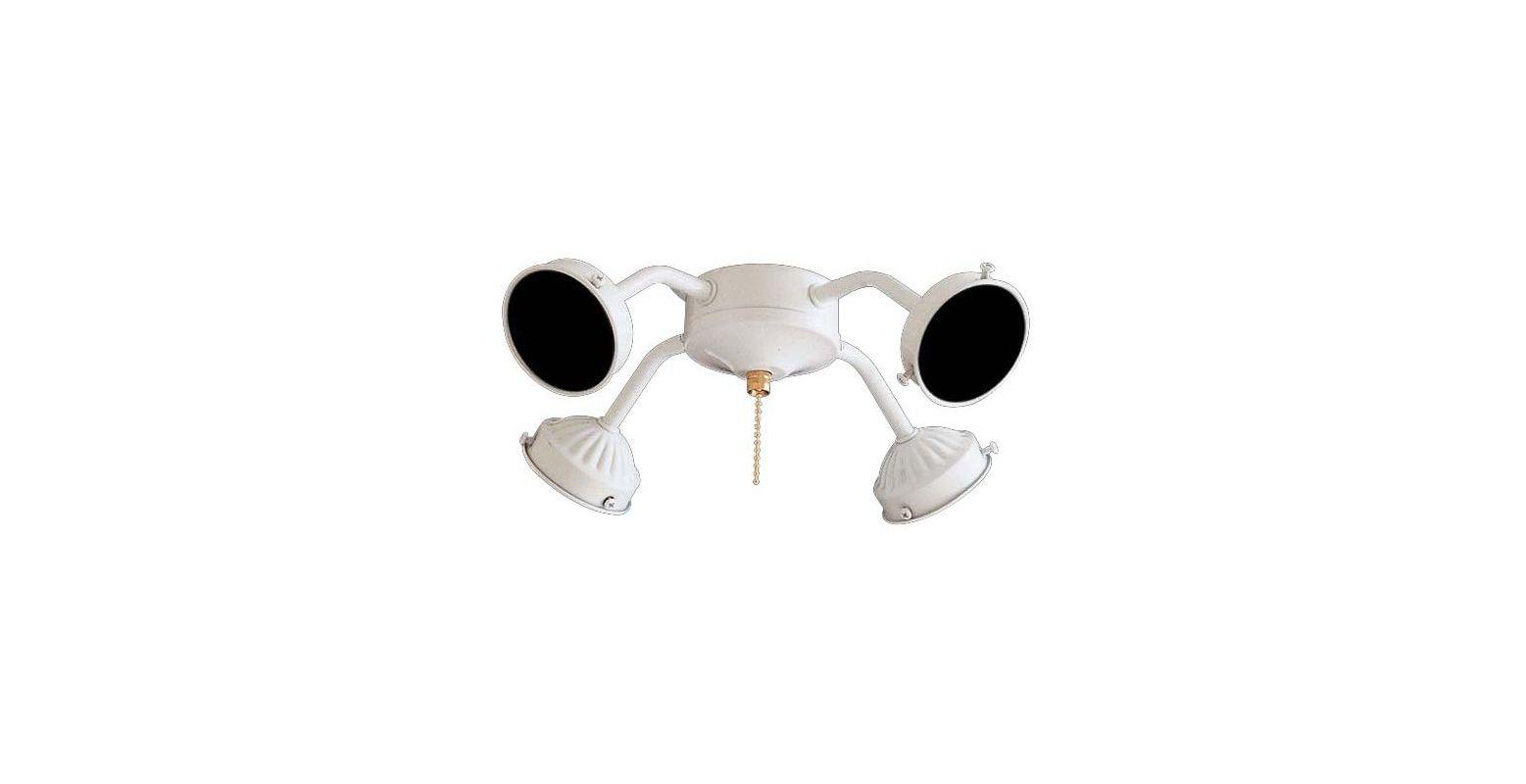 MinkaAire MA K1 4 Light Fitter Fan Light Kit White Ceiling Fan